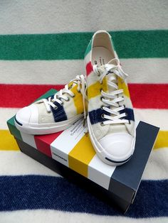 Hudson's Bay converse sneakers.