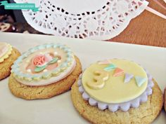 Gorgeous tea party cookies