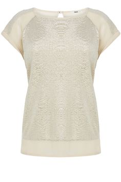Crinkle Foil Shell Top | Gold | Oasis Stores Size 10