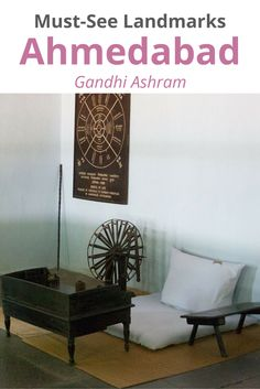 Also known as Sabarmati Ashram. When Mahatma Gandhi returned from South Africa in 1915, he first established in the Kochrab area of Ahmedabad. Later, in 1917, the Ashram was shifted to the banks of the Sabarmati river (hence the name) where it now still stands and where he lived until 1933.