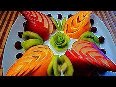 Super Ideas Fruit And Vegetables Design Life Fruit Decorations, Food Decoration, Fruit Plate, Fruit Art, Fruit Trays, Radish Flowers, Vegetable Design, Dressing For Fruit Salad, Banana Art