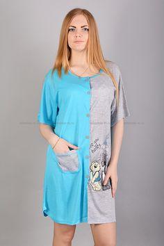 Халат Б6560 Цена: 399 руб Домашний халатик имеет прямой, слегка приталенный покрой. Модель застегивается на пуговицы; украшена контрастным принтом; один боковой карман. Состав: 100 % хлопок. Размеры: M, L, XL, 2XL, 3XL  http://odezhda-m.ru/products/halat-b6560  #одежда #женщинам #домашняяодежда #одеждамаркет