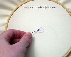 Stitch-along, Bluebird Quilt Block Part 2, Blanket Stitch – Elizabeth Ruffing's Art and Toy Studio