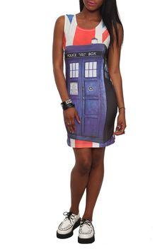 Her Universe Union Jack Tardis Skirt