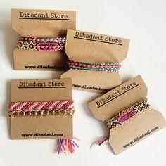 Friendship Bracelets #jewelry #bracelets www.dibadani.com