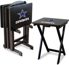 NFL merchandise at Kohl's - This Dallas Cowboys TV tray table set features solid wood construction. Shop our selection of NFL merchandise at Kohl's. Dallas Cowboys Room, Dallas Cowboys Crafts, Cowboys Gifts, Dallas Cowboys Pictures, Tv Tray Set, Tv Tray Table, Nfl Tv, Cowboy Crafts, Cowboy Room