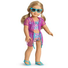 Image for Summer Fun Swimsuit Set from American Girl All American Girl Dolls, American Girl Clothes, Girl Doll Clothes, Girl Clothing, Our Generation Dolls, Best Swimsuits, Cute Girl Outfits, Girl Online, Matching Outfits