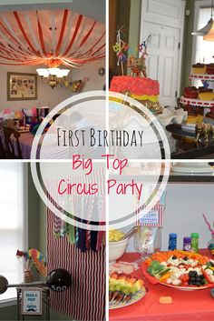 First birthday big top circus party