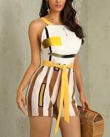Contrast Striped Thin Strap Romper about Fashion outfits, Wardrobe closet and Womens Plus Size Summer ClothesSummer Work Outfits Plus SizeSummer Trend Fashion, Womens Fashion, Two Piece Rompers, Trendy Outfits, Fashion Outfits, Short Jumpsuit, Long Sleeve Romper, Rompers Women, Pattern Fashion