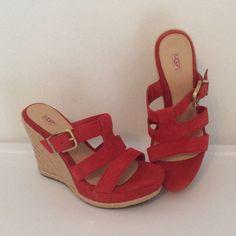 NWT🔶UGG Australia Hedy Wedge Sandals Hijohiyfougop UGG Shoes Wedges