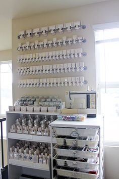 Punch Storage on Bygel rails from IKEA from http://www.pinterest.com/source/lisasoares.typepad.com/