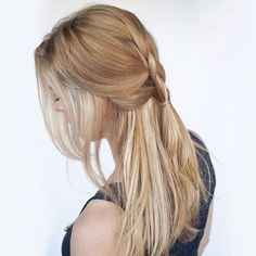 This braid tutorial is up on www.hairromance.com now but let's talk clip-in hair extensions.  I'm wearing a weft in my hair here just to add some fullness and a little length.  Do you wear extensions? Which brands do you like? I'm researching the best brands now and I'd love to hear your experiences xx