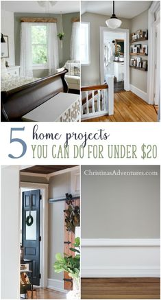 It's not always big before and after projects that make a house a home! Here are 5 easy home improvement projects on a small budget (under $20!) that can make a huge impact in your home.