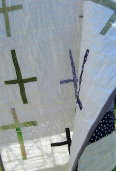 Table Runner Quilted Modern   by RainStudio on Etsy, $40.00