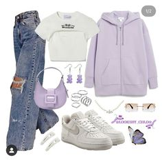 Teen Fashion Outfits, Retro Outfits, Look Fashion, Outfits For Teens, Korean Fashion, Girl Outfits, Baddie Outfits Casual, Swag Outfits, Mode Outfits