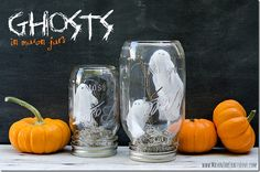 Ghosts In Mason Jars - Mason Jar Crafts Love All Ball Jars and Smooth Sided Jars - bulk pricing at Fillmore Container.