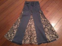 Upcycled Denim Jean Skirt - Girls Size 7. $16.50, via Etsy.