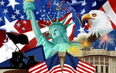 Clips art Dia de la independencia | Independence-Day-united-states-of-america-23406746-1920-1200