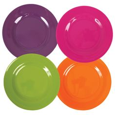 set of 4 Melamine plates by Rice DK