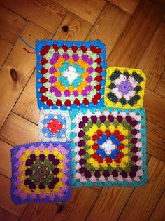 Hooked !! A Crochet Addict's Blog: Day 6 + new odd square project + curtain update
