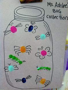 Fingerprint busy bug preschool craft