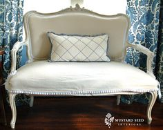 Miss Mustard Seed: Slipcover Video Tutorial Series Part Six - Skirt, Cushion, Tips & Inspiration