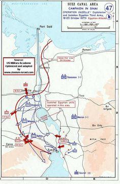 Israel - Map of Yom Kippur War (October War) Egyptian Front IV - Operation Gazelle Second Part