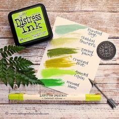 Distress Ink greens
