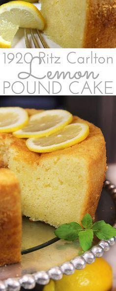 1920 Famous Ritz Carlton Lemon Pound Cake Recipe is the one for you! This dense,… 1920 Famous Ritz Carlton Lemon Pound Cake Recipe is the one for you! This dense,… – Lemon Desserts, Köstliche Desserts, Lemon Recipes, Baking Recipes, Delicious Desserts, Dessert Recipes, Drink Recipes, Food Cakes, Cupcake Cakes