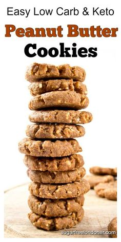 Low Carb Peanut Butter Cookies Recipe (Flourless) Flourless low carb peanut butter cookies – easy, quick and only 4 ingredients needed. Perfect for low carb and keto diets. Gluten free and sugar free! Low Carb Peanut Butter Cookie Recipe, Cookie Recipes, Dessert Recipes, Gluten Free Peanutbutter Cookies, Sugar Free Peanut Butter Cookies, Diet Recipes, Flourless Peanut Butter Cookies, Biscoff Cookies, Diet Meals