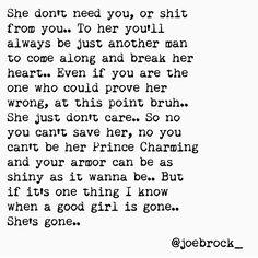 Good girl gone.