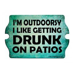 I'm Outdoorsy Wood Tavern Shaped Bar Sign