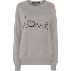 Sugarhill Boutique Love Sweater ($51) ❤ liked on Polyvore featuring tops, sweaters, grey marl, women, gray sweater, gray top, marled sweater, sugarhill boutique and grey top