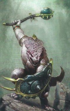 Gor-Rok the great white lizard, par Games Workshop