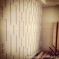 veranda interiors: Project Update: Altadore III - Awesome wall detail for a study