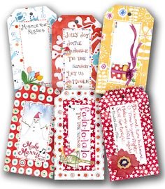 Susan Branch christmas tags