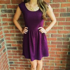 Perfectly Purple Dress This simple dress has a rich purple color that can be accessorized with necklaces, booties, or sandals to make the perfect spring dinner or day time dress! Excellent condition. eyelash couture Dresses