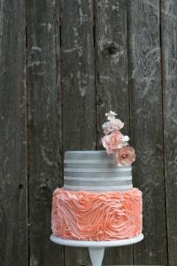Pink and Grey Wedding Cake - By Country Cake Shop