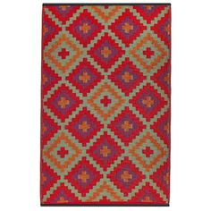 Habitat Handmade Indo Saman Orange and Violet Geometric Area Rug x (Orange & Violet), Size x Living Spaces Rugs, Rugs And Mats, Rug World, Color Naranja, Home Decor Online, Contemporary Area Rugs, Indoor Outdoor Area Rugs, Outdoor Living, Outdoor Rooms