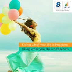 """#thoughtoftheday #SalarpuriaSattva #SattvaGroup  """"Doing what you like is freedom. Liking what you do is happiness""""  Live Free….Live Happy at Salarpuria Sattva homes.  #live #free #happy #home #beauty #family #love #life"""