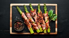 Asparagus, Bacon, Food And Drink, Vegetables, Cooking, Healthy, Foods, Kitchen, Food Food