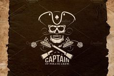 Pirate Captain Logo by DreamBikeShop on @creativemarket