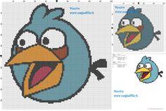 Angry Birds blue bird cross stitch pattern - free cross stitch patterns