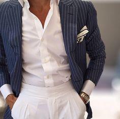 Summertime...#Elegance #Fashion #Menfashion #Menstyle #Luxury #Dapper #Class #Sartorial #Style #Lookcool #Trendy #Bespoke #Dandy #Classy #Awesome #Amazing #Tailoring #Stylishmen #Gentlemanstyle #Gent #Outfit #TimelessElegance #Charming #Apparel #Clothing #Elegant #Instafashion