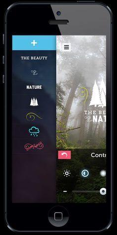 PicLab HD - iOS Universal Photo Editor by Roberto Nickson, via Behance