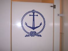 Anchor Wall Decal  Vinyl graphics sticker  Nautical rope and anchor beach decor  great for Boating lovers. $17.00, via Etsy.
