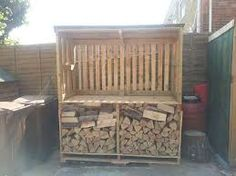 make a woodshed out of logs - Google Search