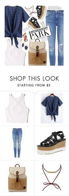 """""""60-Second Style: Amusement Park"""" by beebeely-look ❤ liked on Polyvore featuring Hollister Co., Frame, Guide London, casual, distresseddenim, amusementpark, 60secondstyle and twinkledeals"""
