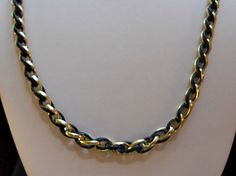 Chain Necklace By Trifari of Black and Gold by AprilSnowJewelry, $16.00