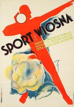 """Anatol Girs, Bolesław Barcz """"Sport i Wiosna"""". (...) Czytaj podręczniki sportowe, 1933"""